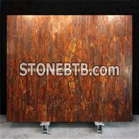 Red Iron Tiger Eyes Slab Panel