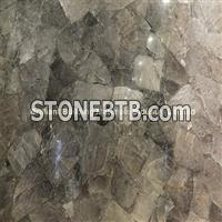 Smoky Rock Crystal In Natural Light Effect