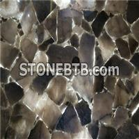 Backlit Smoky Rock Crystal Semiprecious Stone