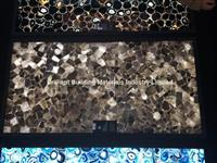 Backlit Smoky Rock Crystal Slab Panel