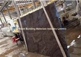 Brown Wooden Veins Marble Slab(Cross Cut)