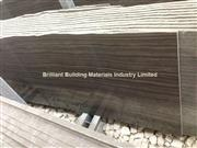 Brown Wooden Veins Marble Semi-Slab(Vein Cut)