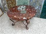 Red Agate Semimprecious stone Round Table Top