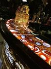 Backlit Red Agate Semiprecious Stone Bar Top