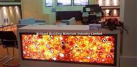 Backlit Red Agate Inlayed Panel for reception Counter