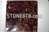 Brown Red Tiger Eyes STone Tiles Irregular Patchwork