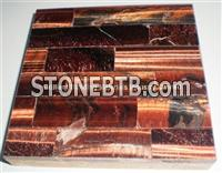 Red Tiger Eyes Stone Tiles Veins pacthwork
