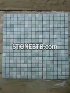 Light Gray Green Marble Mosaic Tiles 1.5*1.5cm