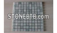 Light Gray Green Marble Mosaic Tiles 2.5*2.5cm
