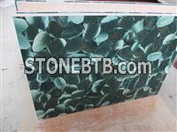 Semiprecious Stone Lotus Green Slab