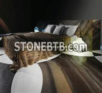 Luxury Elegant Brown Quartzite Floor Tiles in Bedroom