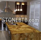 Luxury Palomino Quartzite Kitchen Countertop, Palomino Countertop