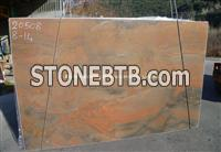 Luxury Brazil Red Quartzite Slab, Brazil Sunset Red Quartzite Slab
