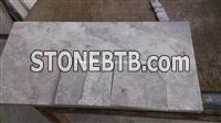 China Grey Cream Marble Tiles, Cyan Grey Marble Tiles