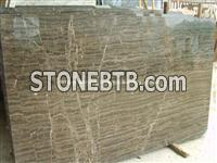 China Coffee Wave Marble Slab, Natural Coffee Marble Slab