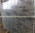 China Landscape Green Granite Big Slab, Natural Green Granite Slab
