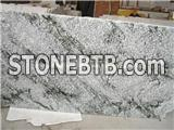 China Multicolor Green Granite Semi-Slab, Natural Green Granite Slab