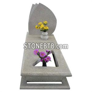 Sunset gold granite tombstone