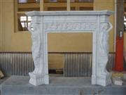 Sculpture Stone Fireplace