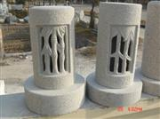 China Grey Granite Carved Lamps