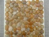 Yellow high-polished pebble tile