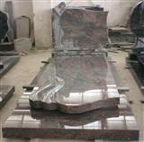 Red Multicolor Granite Tombstones