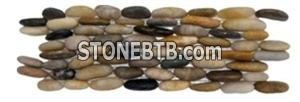Mixed stand pebble tile for bathroom