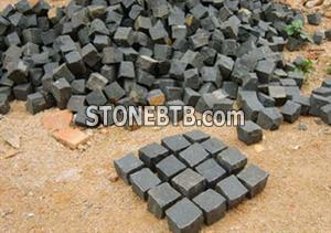 Black granite paving stone