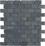 Tumbled brick like slate mosaic