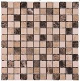 Brown and beige color marble mosaic