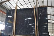 Chinese Marquina Black Marble Slabs
