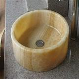 Yellow Onyx Stone Basin, Stone Sink