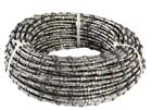 Spring diamond wire saw for marble quarry