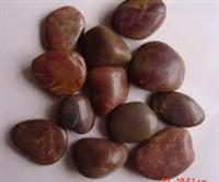 Red pebble for decoration