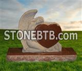 Angel granite headstone for American market