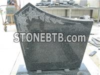 Etching granite headstone with kerbs