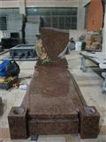New style granite headstone with cover slab
