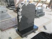 3D flower carving granite headstone