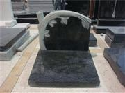 black headstone with tree shape