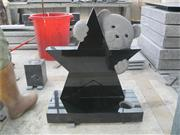 Children black headstone granite grave markers