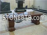 High polished granite benches for cemetery
