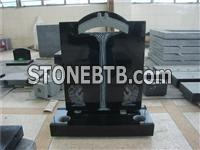 Traditional black granite monument