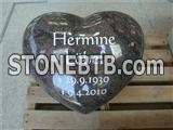 Heart shape granite monument headstone for grave