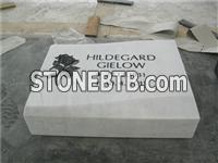 White grave accrssories for cemetery headstone