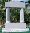 Column headstone granite monument gray tombstone