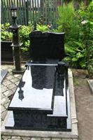 High polished headstone black monument granite tombstone