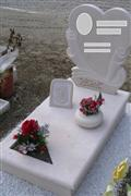 Grey headstone modern monument granite tombstone with vase