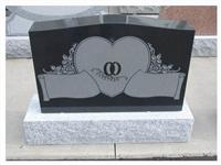 Shanxi Black Headstone Granite Monument (YFX-TE-M10)