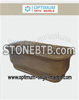 Marble Bath Tub - Sahara Gold