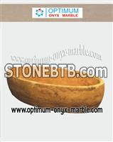 Marble Bath Tub - Indus Gold